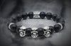 Essential Onyx And Triple Silver Skulls