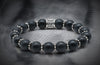 Regal Silver Decorative 16 Rings And Onyx Matt Beads