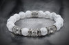Minimum Howlite And Triple Silver Beads