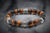 Optimum  Matt Tiger Eye and Triple Silver beads