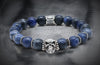 Optimum  Sodalite And Silver Skull