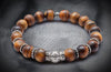Essential Matt Tiger Eye and Silver Bead