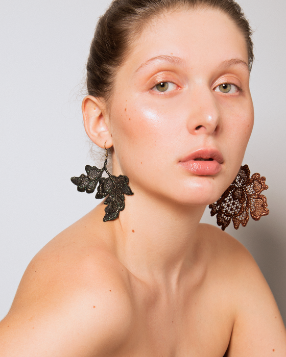 FLOWER & LEAF EARRINGS