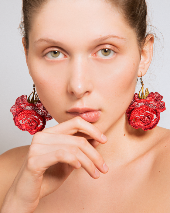 Roses only earrings
