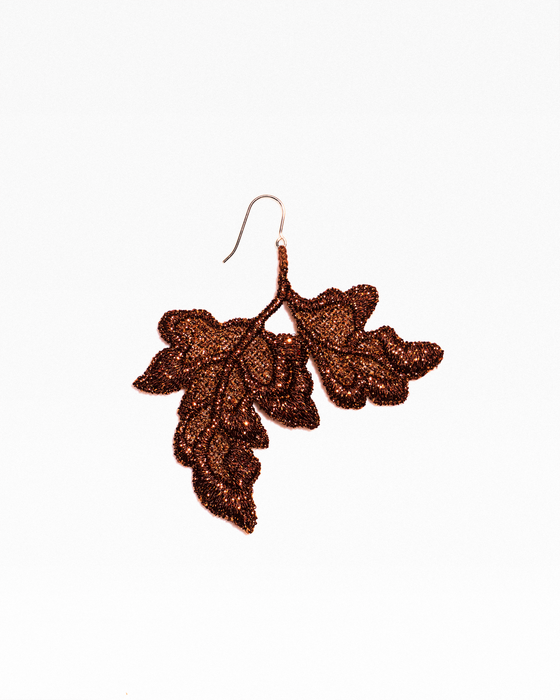 Customizable flower and leaf earrings