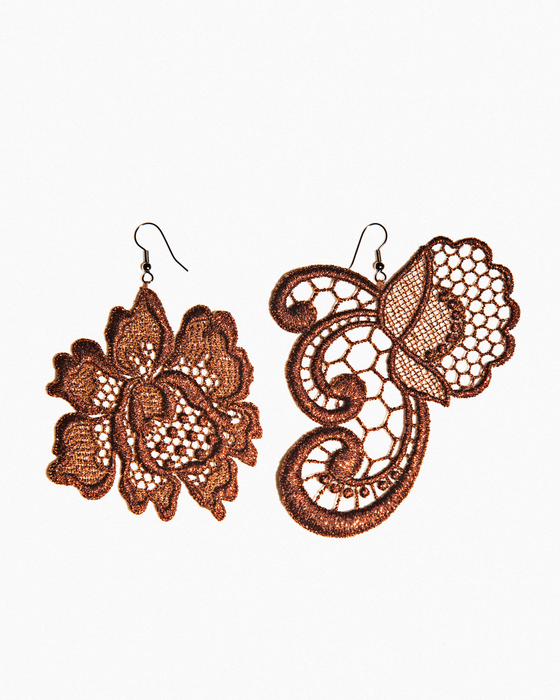 PAISLEY &FLOWER EARRINGS