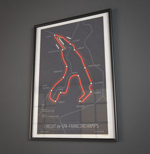 Circuit de Spa-Francorchamps -24x36 Track Poster
