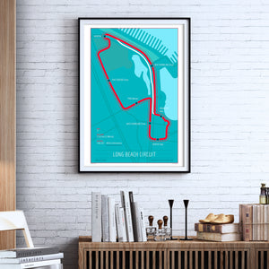 Long Beach Circuit - 24x36 Track Poster