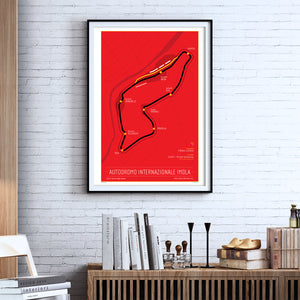 Autodromo Internationale Imola - 24x36 Poster