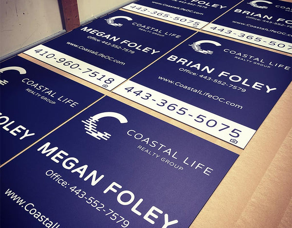 Custom Commercial Real Estate Sign in Ocean City Maryland