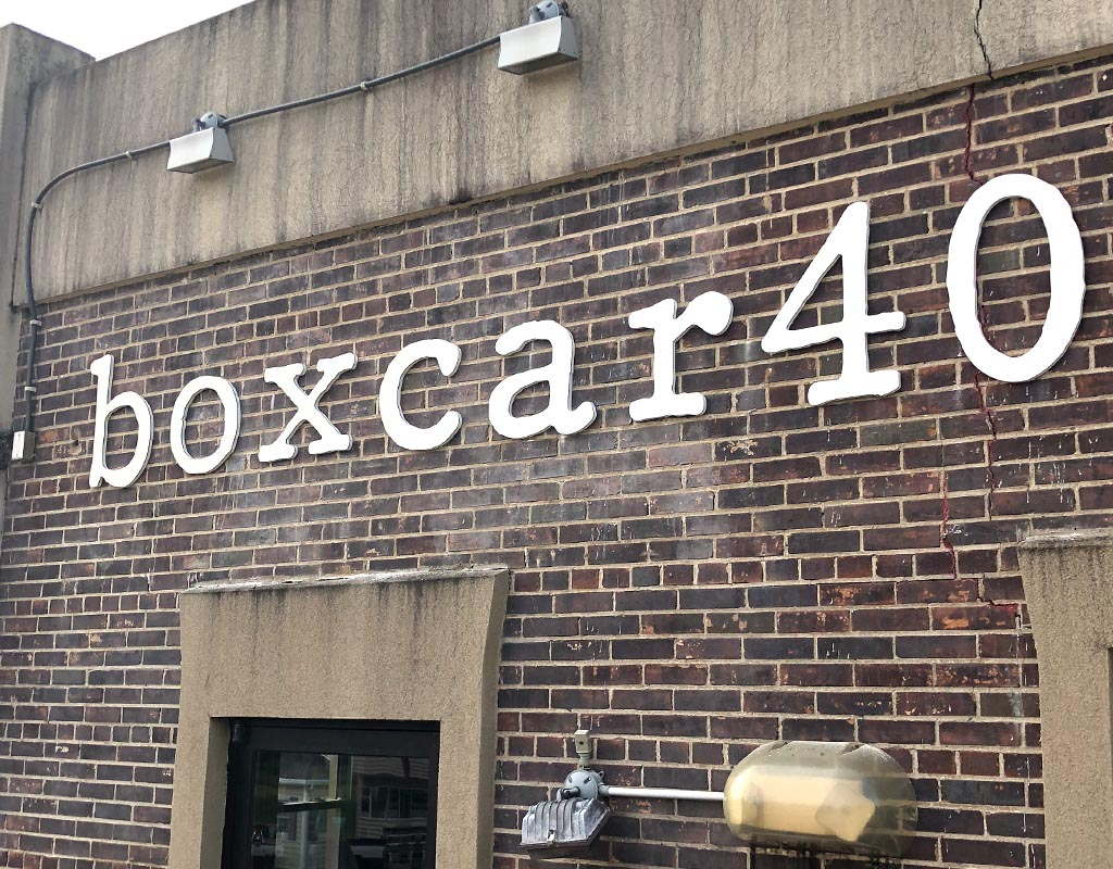Boxcar40 Commercial Aluminum Sign