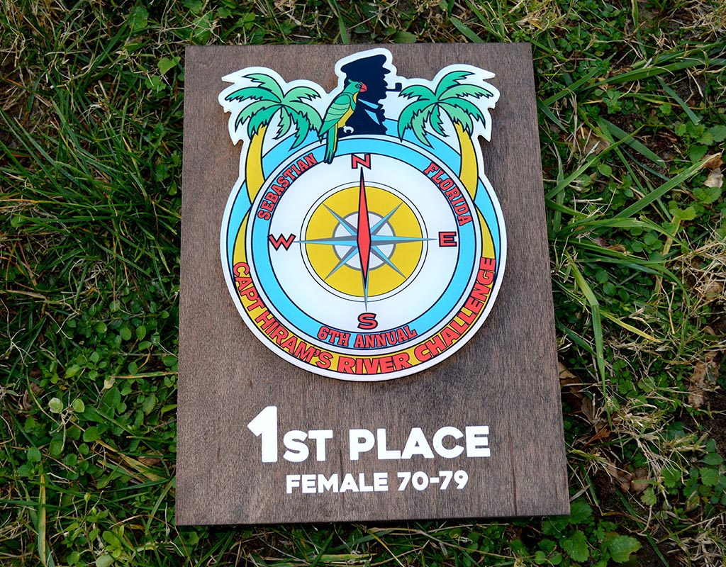Custom Wooden and Acrylic Awards for Captain Hiram's Resort