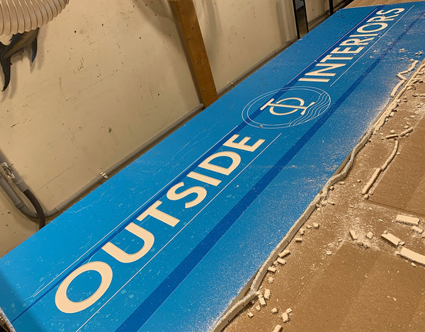 outside interiors custom sign made in ocean city maryland