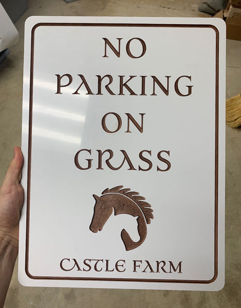 Castle Farm Weddings Custom Routed & Painted PVC Signs
