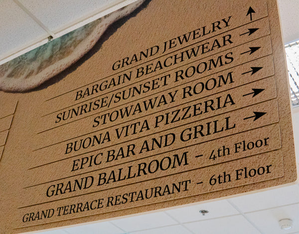 Grand Hotel Custom Directional Sign in Ocean City Maryland