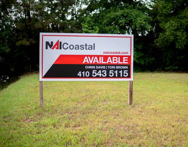 NAI Coastal Realty Custom Commercial Real Estate Sign in Ocean City Maryland