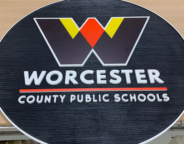 Custom Sandblasted Sign for Worcester County Board of Education