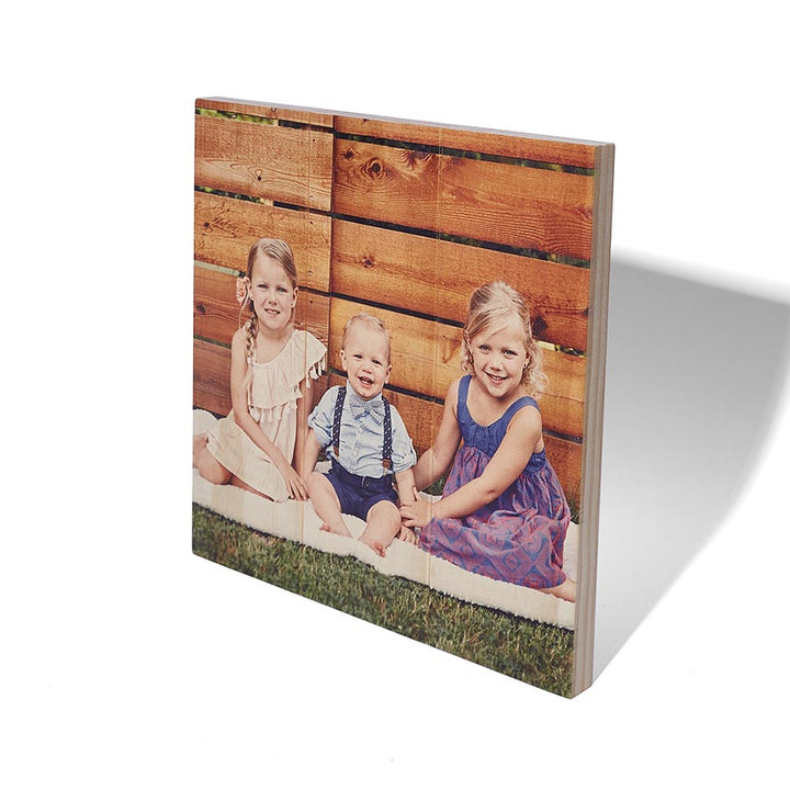 10.5 x 10.5 Planked Wood Print - Picture on Wood