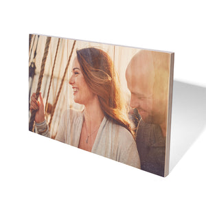 10.5 x 16.5 Planked Wood Print - Custom Wood Prints - Plak That Printing Company