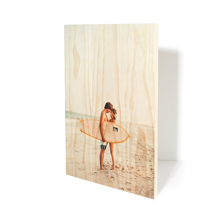 22.5 x 16.5 Planked Wood Print - Picture on Wood