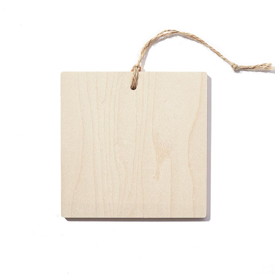 4 x 4 Square Wooden Ornament - Wood Print - Plak That Printing Company