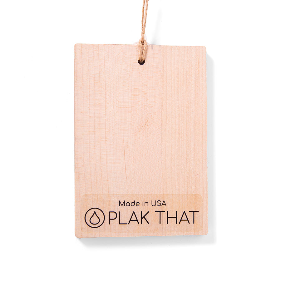 5 x 3.5 Wooden Ornament - Wood Print - Plak That Printing Company