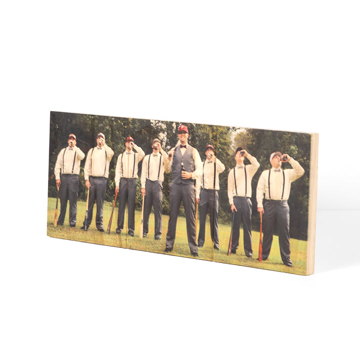 6.74 x 16.5 Panoramic Planked Wood Print - Pictures on Wood