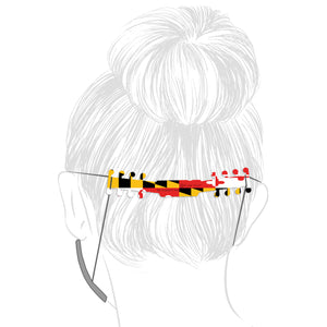 Ear Savers - Maryland Flag - Ear Saver - Plak That Printing Company