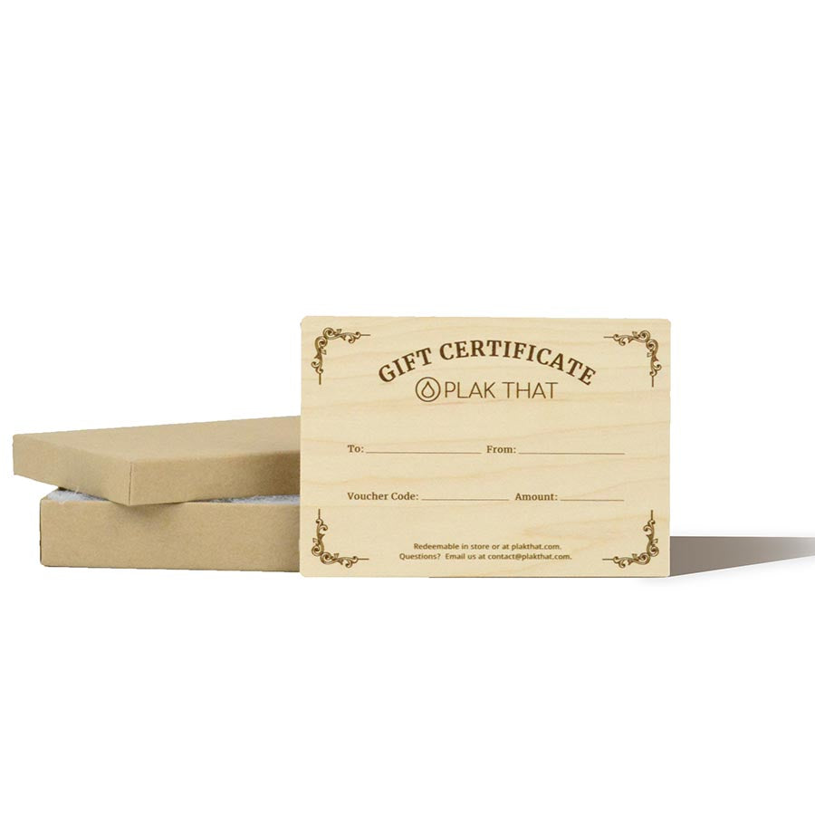 Wooden Gift Card & Box