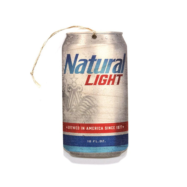Natural Light Beer Can Wooden Ornament - Wooden Ornaments - Plak That Printing Company