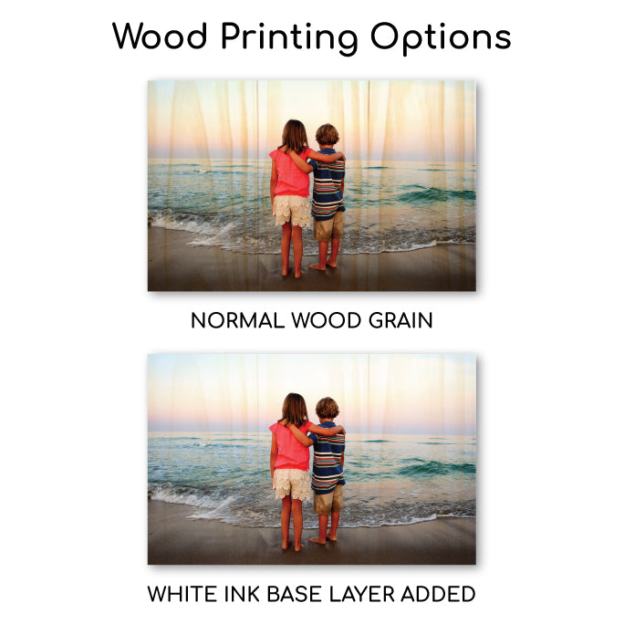 6.75 x 10.5 Planked Wood Print - Custom Wood Prints - Plak That Printing Company