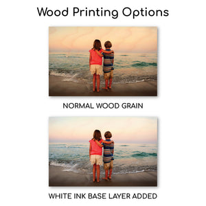 6.75 x 10.5 Wood Print - Custom Wood Prints - Plak That Printing Company