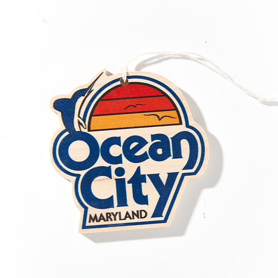 Vintage Ocean City Maryland Wooden Ornament - Wooden Ornaments - Plak That Printing Company