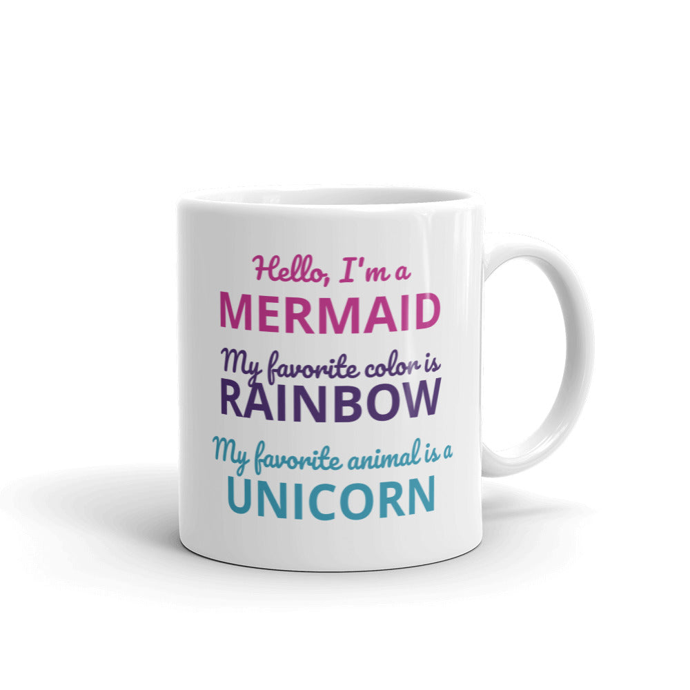 Mermaids, Rainbows, and Unicorns Mug