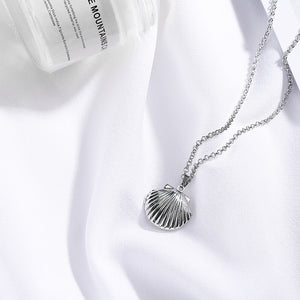 Sea Shell Locket Pendant Necklace