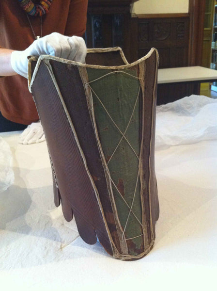 C1700-1799: LEATHER STAYS: CARROW HOUSE: COSTUME AND TEXTILE ARCHIVE (NORWICH, UK)