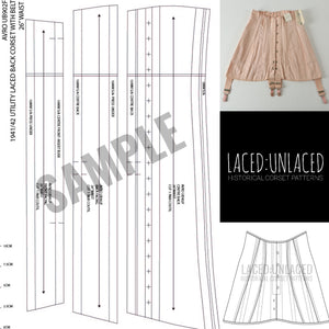 LACED:UNLACED BY TWILIGHT SIREN: HISTORICAL CORSET PATTERNS