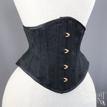 21 INCH WAIST VOLUSPA BLACK BOUQUET COUTIL CORSET