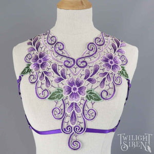 DEYSI PURPLE LACE BODY HARNESS BRALET