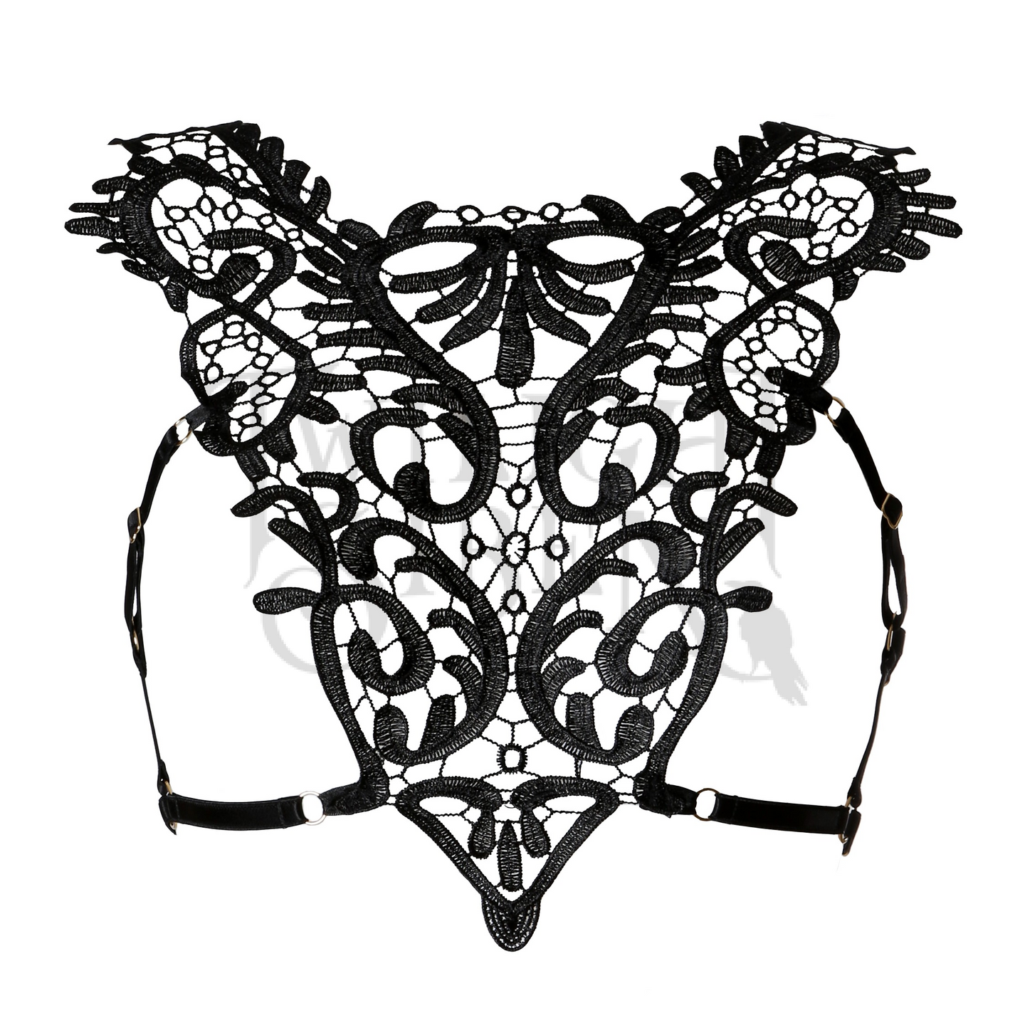HELLA lace elastic body harness bralet black Twilight Siren
