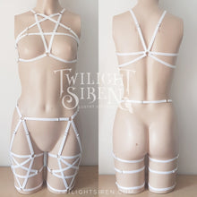 pentagram set bralet and suspender leg harness TWILIGHT SIREN