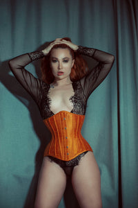 LITA SILK WAIST TRAINING CORSET - TWILIGHT SIREN