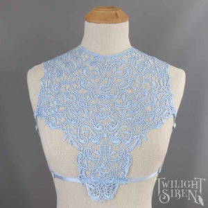 OLIVIA LIGHT BLUE LACE BODY HARNESS BRA