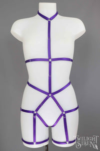 JADE BODY HARNESS OUVERT PLAYSUIT PURPLE