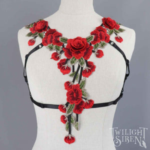 ROSE LACE BODY HARNESS BRALET