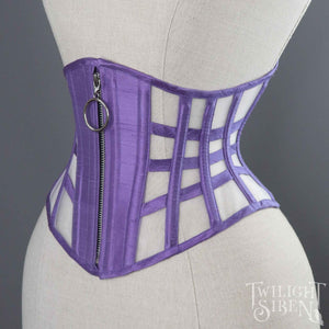 VOLUSPA LATTICE SILK AND MESH RIDING CORSET