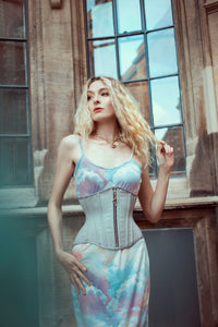 VELLAMO ZIPPED COUTIL WAIST TRAINING CORSET - TWILIGHT SIREN