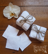 BAMBOO REUSABLE FACE wipes / eco friendly makeup remover pads / washable cleansing pads / zero waste by Twilight Siren