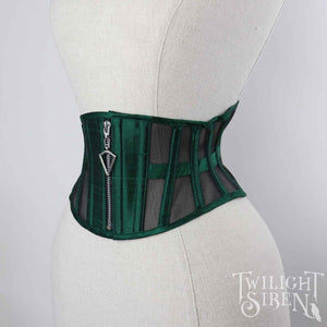 ELIZA SILK AND MESH CINCHER