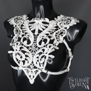 HELLA LACE BODY HARNESS BRALET WHITE